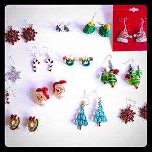 Christmas Earrings 14 Pairs
